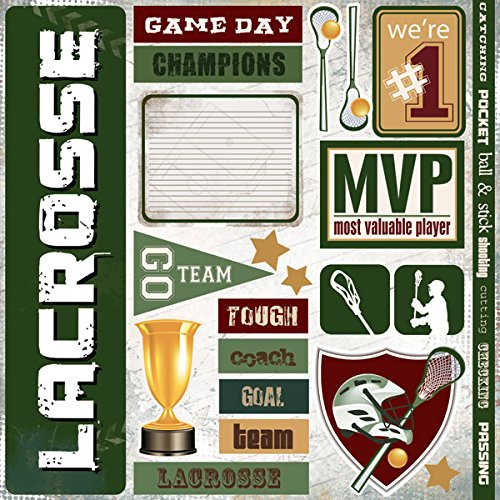 Lacrosse Extreme Scrapbook Stickers (19779)