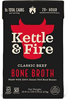 product image for Beef Bone Broth Soup by Kettle and Fire, 1 Pack