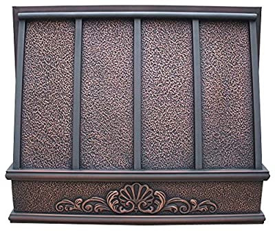 Copper Best H11 362130HA Under Cabinet Copper Kitchen Hood with Embossed Patterm Antique 36 in