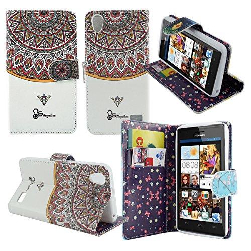 Mstechcorp - Huawei Pronto LTE Case, Dual-use Flip Pu Leather Fold Wallet Pouch Case Premium Leather Wallet Flip Case for Huawei Pronto LTE H891l G620 (SINGLE PHARAOH CROWN)