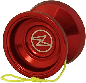 Yoyo King Proteus Professional Responsive Trick Aluminum Yoyo with Ball Bearing Axle for Kids with Extra String (red)