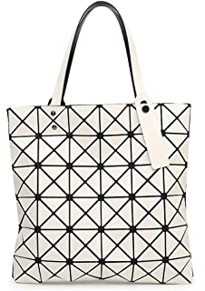 Amazon.com: Womens Checkered Tote Bag,PU Leather Geometric Diamond ...