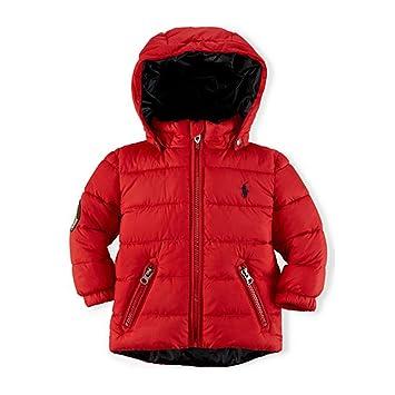 e8890442fe9a Amazon.com  Ralph Lauren Polo Baby Boys Red Racer Puffer Jacket (12 ...