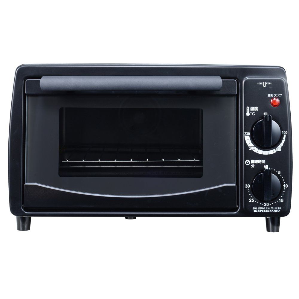 IZUMI 【油を使わず揚げ物OK 食パン2枚焼き】 コンベクションオーブントースター ブラック CA-OT55-K product image