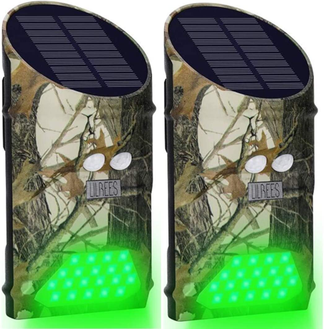Lilbees Solar Hog Feeder Light Motion Activated Green Hunting Lights for Predato for sale online