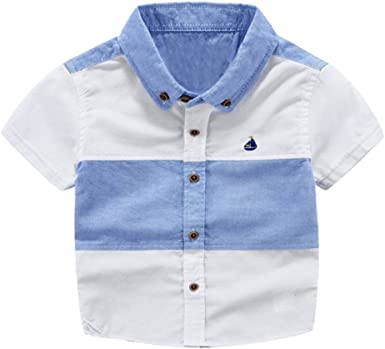EFINNY - Camisa de Cuello Alto para bebé, con Rayas de Verano, Informal