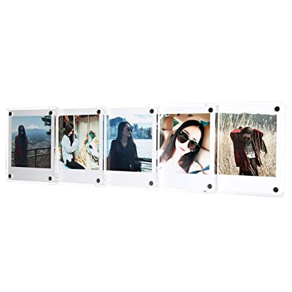 18006601ccdb [Fujifilm Instax Square Frame] -- CAIUL Clear Acrylic Fridge Magnetic Frame,  Double Sided Photo Magnet Frame for Fuji Instax Square SQ10 Film, ...