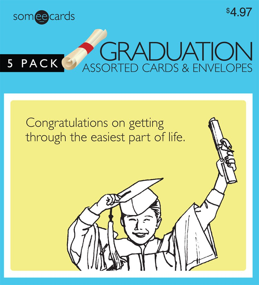 Amazon Someecards Graduation Greeting Cards 2 5 Pack