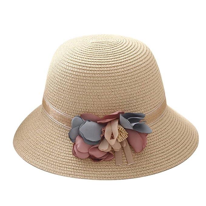 Gorros Damas Mujer Sombrero De Verano Sombrero De Pesca Plegable Fácil De Igualar  Sombrero De Playa 2d0f6ad3e38