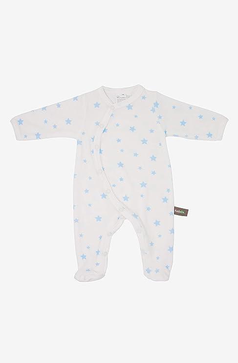 Kadolis Pijama de bebé en algodón orgánico Estampado Estrellas Azul Cielo 12 Meses: Amazon.es: Bebé