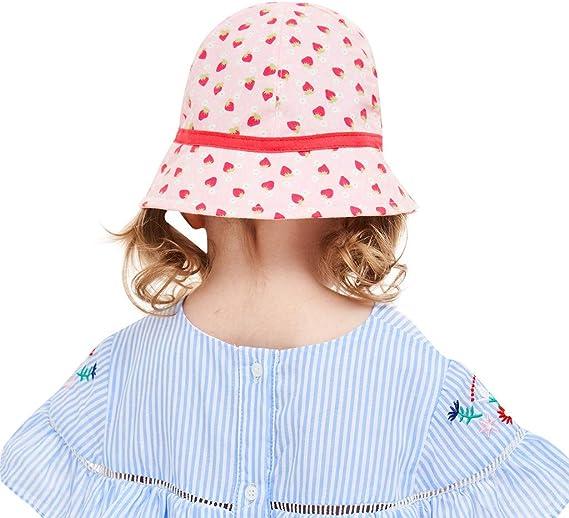 PinkLu Niña Rosa Sombrero Bebe Fresa Arco de impresión Sombrero de ...