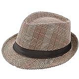 Respctful ♪☆ Hat Clearancesales,Unisex Print Fedora Hats Braid Straw Short Brim Jazz Cap