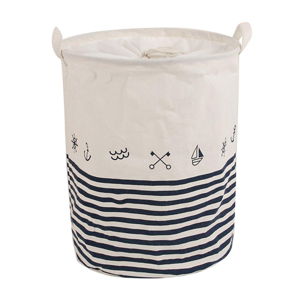 Dooxi Grande Pliable Panier à Linge Boite Rangement en Tissu Organisateur pour Vetement sale Sac pour Stockage de Jouets avec Drawcord avec Poignées