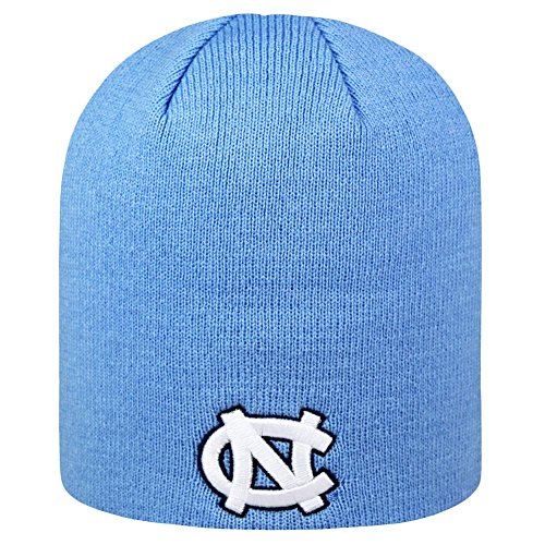 North Carolina Tar Heels Official NCAA Uncuffed Knit Classic Beanie Stocking Stretch Sock Hat Cap by Top of the World 926803