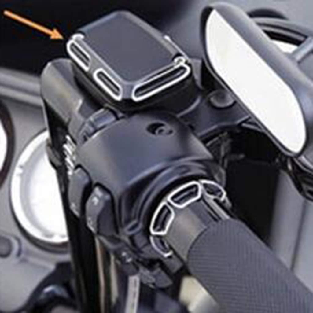 H HILABEE Aluminium Bremszylinder Deckel Abdeckung Pumpendeckel Hauptbremszylinderdeckel f/ür Harley FLH Electra Glide 08-17