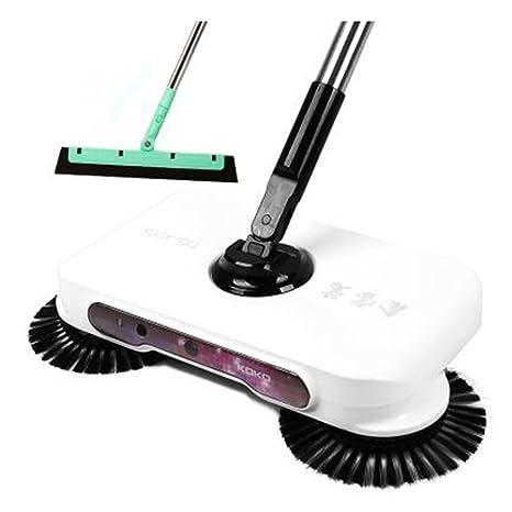 cuzit 3 en 1 hogar mano empuje automático de barrido robot LED luz escoba recogedor y