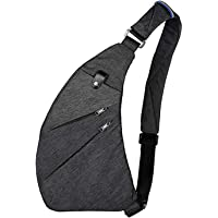 Wishliker Sling Bag Crossbody Bolsas de Hombro para el Pecho Deporte portatil para Caminatas al Aire Libre, Viajes