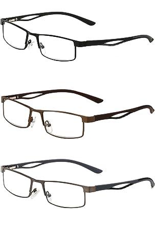 VEVESMUNDO® Lesebrillen Herren Damen Klassische Scharnier Brille Lesehilfe Augenoptik Vollrandbrille 1.0 1.5 2.0 2.5 3.0 3.5 4.0 (Braun, 2.5)