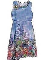 Girls Sleeveless Chiffon Dress Bohemian Maxi Long Dress Pink Purple Blue Party Beach Size Age