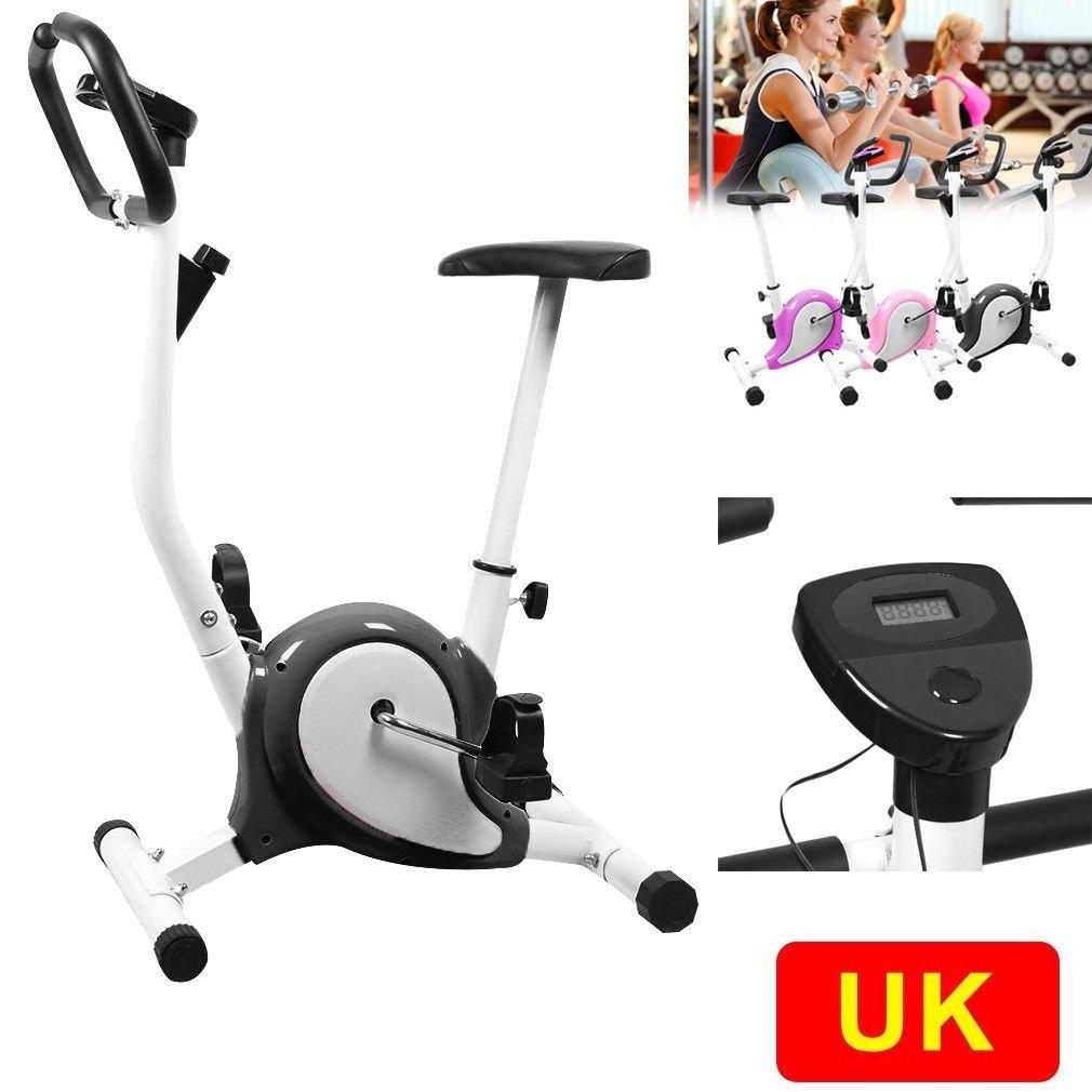 OUTAD Training Exercise Bike LCD Display Comfortable Sponge Adjustable Height Saddle Indoor trainer Bike UK BU oHholly