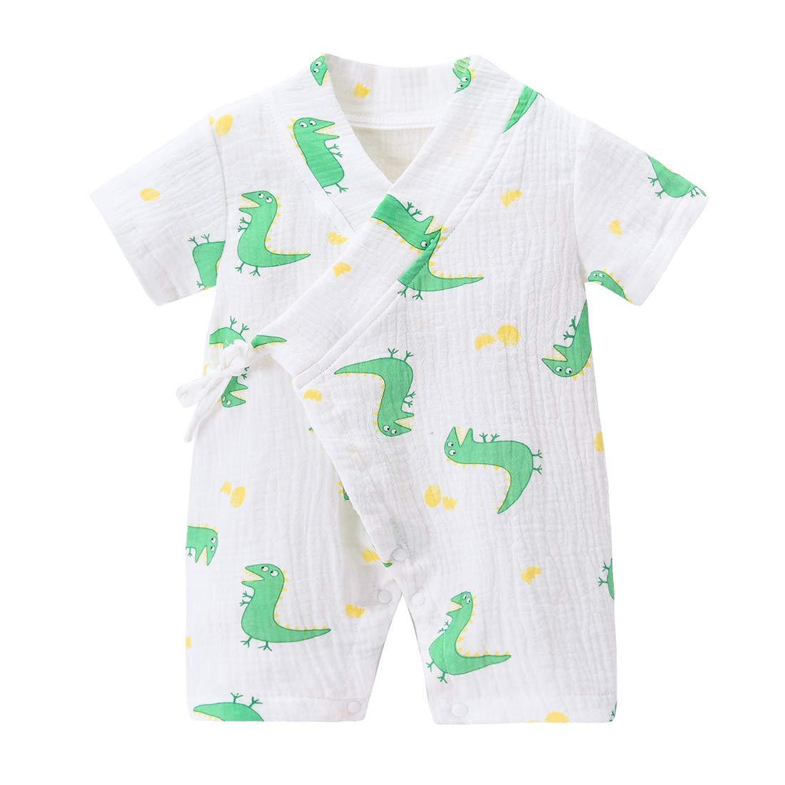 Peboli Baby Kimono - Albornoz de algodón para recién Nacido, Pijama ...