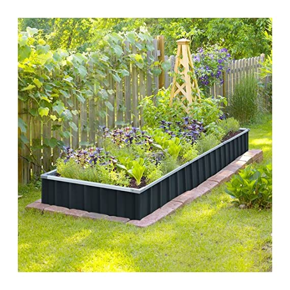 "KING BIRD Extra-Thick 2-Ply Reinforced Card Frame Raised Garden Bed Galvanized Steel Metal Planter Kit Box Green 68""x 36""x 12"" with 8pcs T-Types Tag & 1 Pair of Gloves, 17 Cu. Ft. 2 【TWO YEARS WARRANTY】Update the newest assembly video in April. Show more details about installment, stability and convenience. The most wonderful design of our KING BIRD raised garden bed is not only about the convenient and fast installation without tools, also for its smart design to vastly increase the loading ability and capacity. TWO YEARS WARRANTY and 100% satisfaction After-service are provided, please contact us directly if any questions or doubts. 【Extra-thick 2-Ply Reinforcement】 Double card frames on the two sides of sheet make the garden bed more durably and stably; never worry about its distorted or collapsed and it presents much more beautiful design. 【Multilayer Galvanized Paint】 Upgraded multilayer galvanized paint efficiently prevents rust and continues to beauty; also never worry about that pest and rain damage the wood garden bed; galvanized steel garden bed provides a lasting use and no discoloration. No painting inside, no worries about the damage for plants."