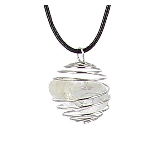 Axstore Market - Collar Piedra Natural de Cristal de Roca con ...