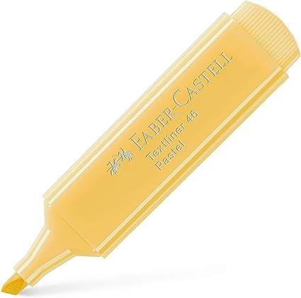 Faber-Castell Highlighter Textliner Pastel Vainilla 1546 67 10 Lu (1 Pack 10 Piezas): Amazon.es: Oficina y papelería