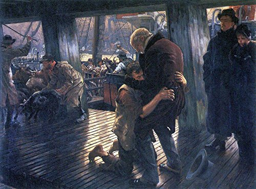 The Museum Outlet - The Prodigal Son in Modern Life - The Return by Tissot - Canvas Print Online Buy (30 X 40 Inch)]()