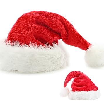 Santa Hat for Men Women Qotone Adults Unisex Christmas Hats Xmas Hat Extra  Thicken Santa Hats 21f60f5f98