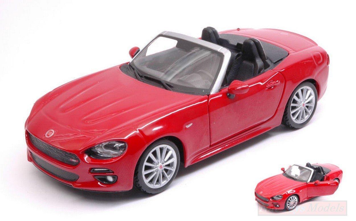 NEW BURAGO BU21083R FIAT 124 SPIDER 2016 RED 1:24 MODELLINO DIE CAST MODEL