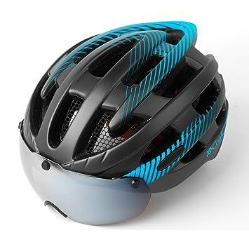 Qarape Luces traseras de seguridad desmontables Gafas magnéticas Casco ajustable Circunferencia de la cabeza Carretera Protección