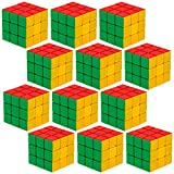 12 Piece Party Pack of 3 x 3 Puzzle Cubes Engineered for Speed Solving by ...