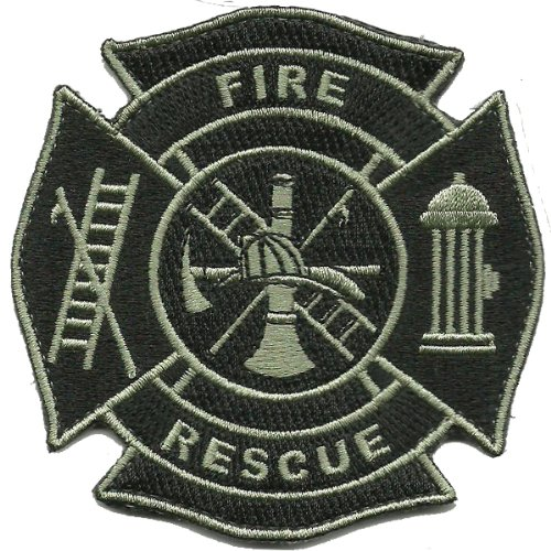 Fire & Rescue Tactical Patch - Black & Silver