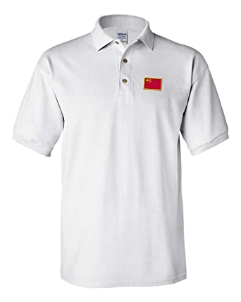 4a7b3654d Image Unavailable. Image not available for. Color  Speedy Pros Polo Shirt  China Embroidery Country Name Cotton ...