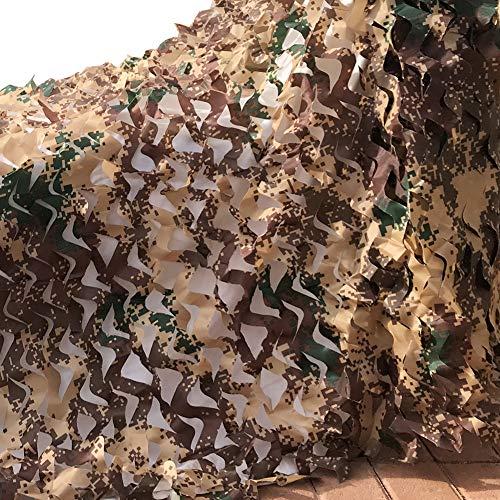 Camo Netting, Camouflage Net 5 X 13 FT 210D Desert Digital Nets Lightweight Durable for Sunshade Decoration Hunting Blind Shooting (Garden Camouflage)