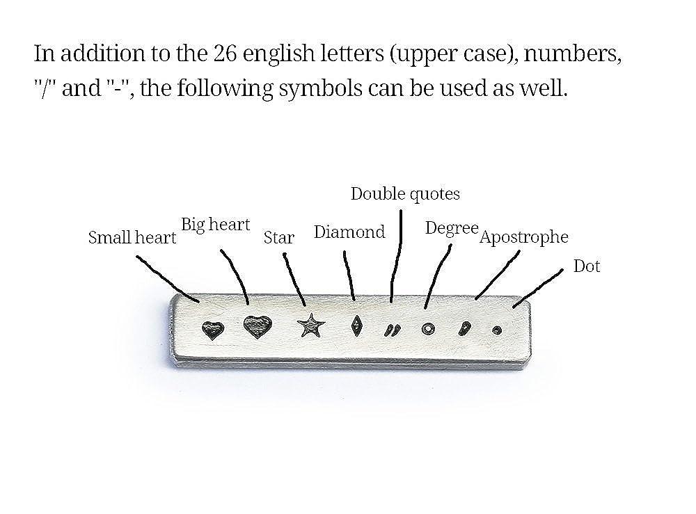 Monogram tie pin monogrammed tie bar strong clasp MyResinJewelry T3503M-2C