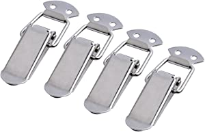 Accessbuy Stainless Steel Spring Loaded Toggle Latch Catch Clamp Clip for Trunk, Case, Box, and Chest with 4 Pack (90mm Overall Length)