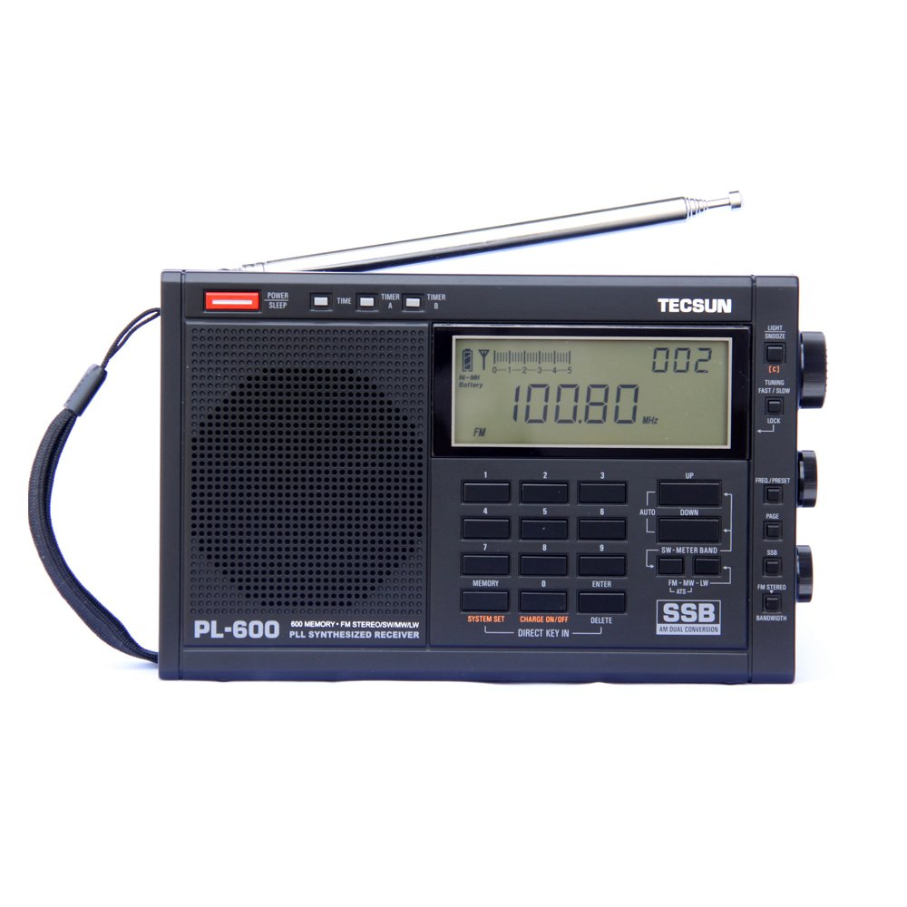 TECSUN PL-600 FM Radio Stereo MW/SW-SBB/PLL Synthesized Digital Tuning Full-Band Radio Receiver PL600 Radio