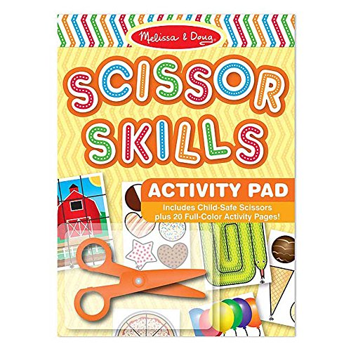 61EyOu6LsmL - Melissa & Doug Scissor Skills Activity Book With Pair of Child-Safe Scissors (20 Pages)