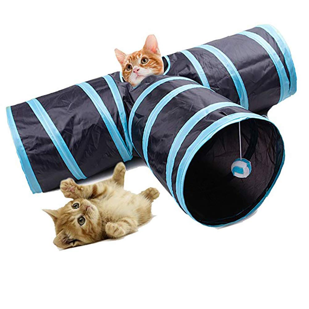 Cat Tunnel for Cat 3 Output Folding Game Pet Dog Cat Toy Play Activity Kitten, Rabbit, Puppy Indoor Outdoor Sports, Hide, Train and Run