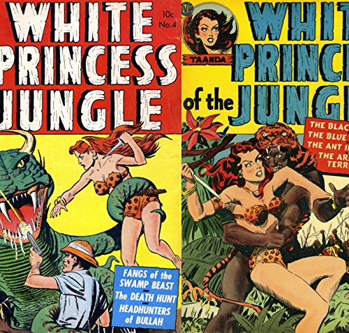 Taanda. White Princess of the Jungle. Issues 3 and 4. The Black death, Blue Gorilla, Fangs of the swamp beast, Head hunters and more. Golden Age digital comics Heroes and Heroines Comics ()