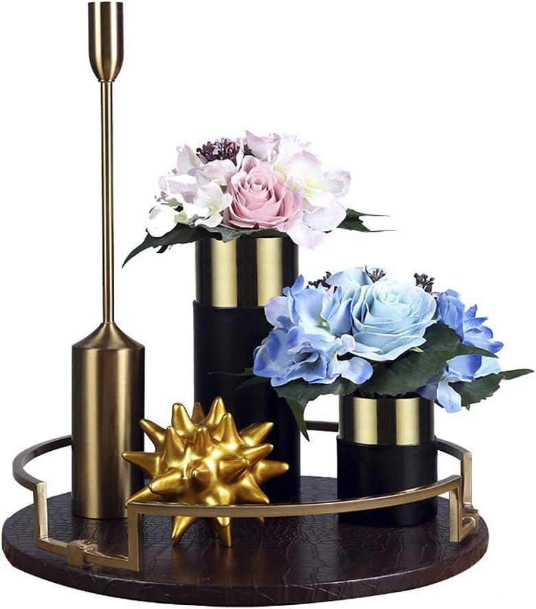 MYHZH Bandeja de Cuero, Perfume Bandeja Organizador, Bandeja Señora joyería para la decoración del hogar, Usados en la mesita de Noche o de bañera de baño y Sala de Estar