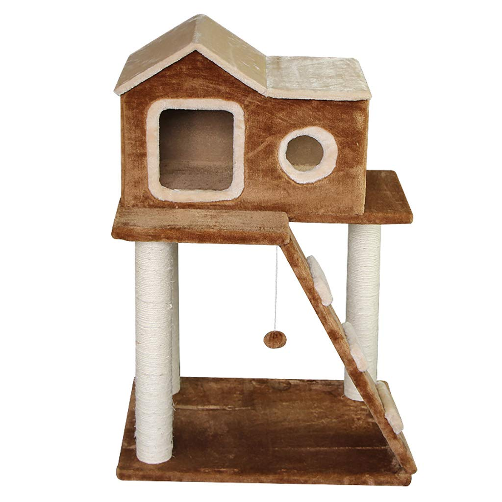QAHMPJ Cat Tree with Scratch Post, Cat House Cat Cave