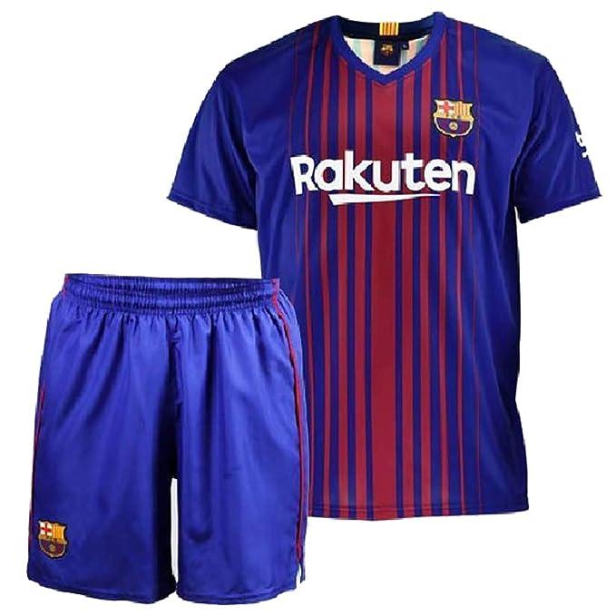 Conjunto - Kit 1ª Equipación Replica Oficial FC BARCELONA 2017-2018 Dorsal MESSI - Tallaje NIÑO (6 AÑOS): Amazon.es: Deportes y aire libre