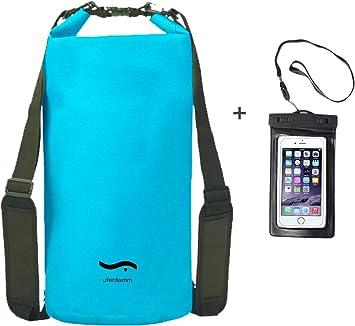 Uferdamm Drybag 20L - Funda Impermeable para Smartphone (20 L), Color Hellblau INKL. Smartphone Hülle, tamaño 20 L: Amazon.es: Deportes y aire libre