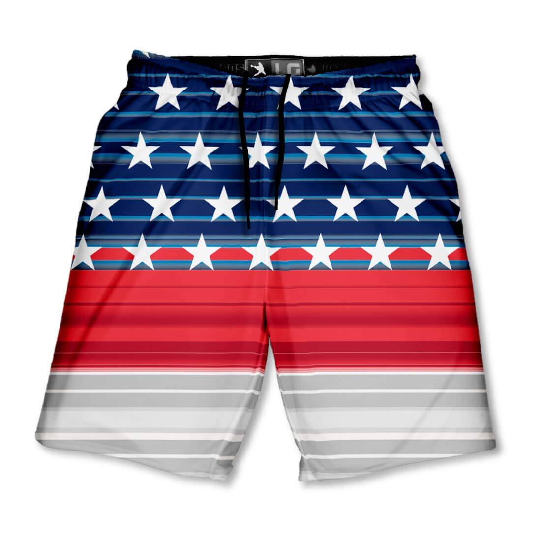 Lacrosse Unlimited Liberty Boys Lacrosse Shorts with Deep Side Pockets and Elastic Waistband-Youth-Large