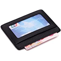 MEKU Slim Leather Wallet Credit Card Case Sleeve Card Holder With ID Window