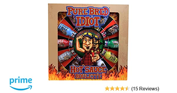 Amazon Com Pure Bred Idiot Hot Sauce Roulette Game Grocery