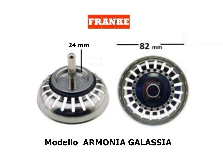1330041936 Di/ámetro: 82 mm Tap/ón original con filtro para fregaderos Franke CD 03160803 Perno de 24 mm de longitud